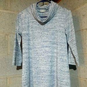 Le lis 3/4 Length Sleeve Grey Small Cowl Neck Top